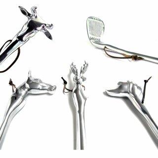 telmo Schuhanzieher HUND, HIRSCH, PFERD, KUH oder Golfschläger extrem stabil ca. 50cm Metall