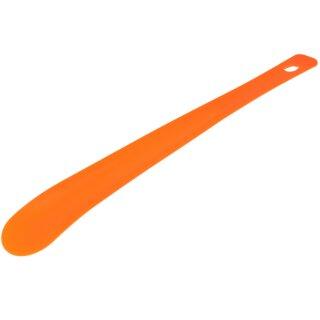 Schuhlöffel aus Kunststoff mit Lochung Leuchtorange / Neonorange ca. 35cm