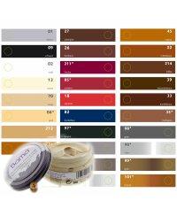Bama Leder Pflegecreme 50ml Glas für Lederfarbe FARBLOS
