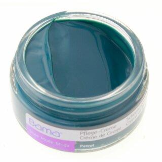 Bama Leder Pflegecreme 50ml für Lederfarbe PETROL