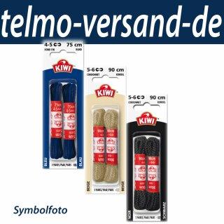 2 Paar KIWI Rundsenkel 60cm, dünn, schwarz, Schnürsenkel