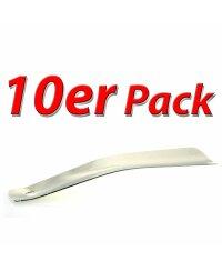 10er Pack Metall Schuhanzieher 15cm, verchromt mit...
