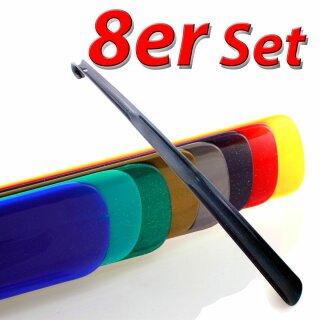 8er Set Schuhanzieher, Schuhlöffel Kunststoff ca. 65cm