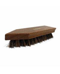 Schmutzbürste (Holz) braun lackiert, Griffkehle und...
