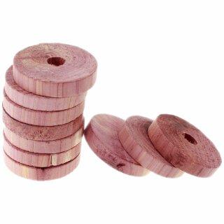 10 Stück Rot-Ceder-Kleiderbügelscheiben, Natürlicher Mottenschutz ohne Chemie cedar!