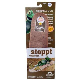 SUNBED® Einlegesohle Cork Schuheinlagen Gr. 40