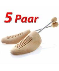 5 Paar Schuhspanner Natur Holz Spiral Schuhspanner Gr....
