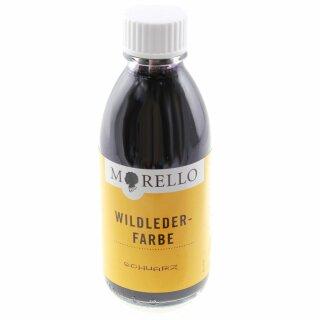 Morello Lederfarbe für Rauleder Wildleder Velour 100ml Schwarz
