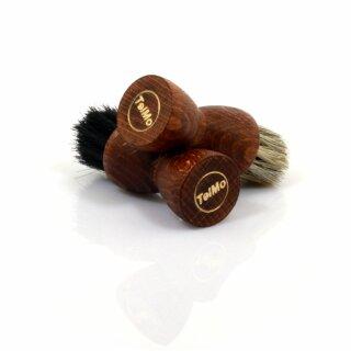 Sparset braune Tiegelbürste Auftragbürste schwarz und hell zum Auftragen von Sch