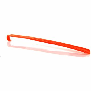 Schuhanzieher, Schuhlöffel Kunststoff mit Haken verschiedene Farben ca. 65cm Leuchtorange / Neonorange