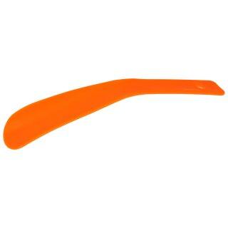 Schuhlöffel Schuhanzieher aus Kunststoff mit kleiner Biegung, verschiedene Farbe Leuchtorange / Neonorange