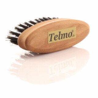 TELMO Bartbürste, oval, aus Birnbaumholz 2,8 x 8 cm