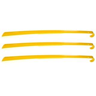 3er Set Schuhanzieher, Gelb, Schuhlöffel Kunststoff ca. 65cm