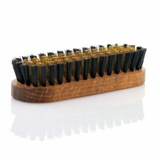 Messingbürste Wildlederbürste Raulederbürste (Holzkörper 120x39x28mm)