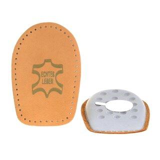 TelMo® Fersenkissen Einlage echt Leder mit Latexkissen Gr. 35 - 42