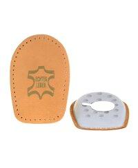 TelMo® Fersenkissen Einlage echt Leder mit Latexkissen Gr. 41-42