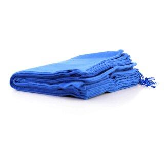 10 Stück Schuhbeutel aus Baumwolle mit Zugband 37x27cm BLAU