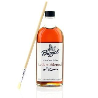 Burgol 125ml Sohlenlederöl Glasflasche Ledersohlenöl mit Pinsel