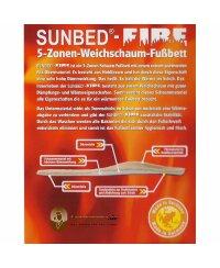 SUNBED® FIRE wärmendes Schaumfußbett - Größe 35-48